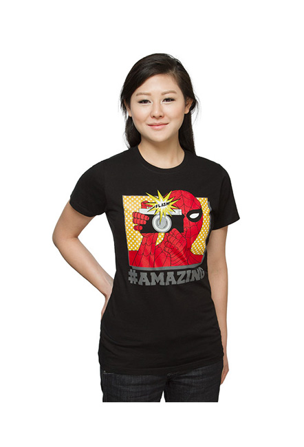 Spiderman Selfie Ladies' Tee